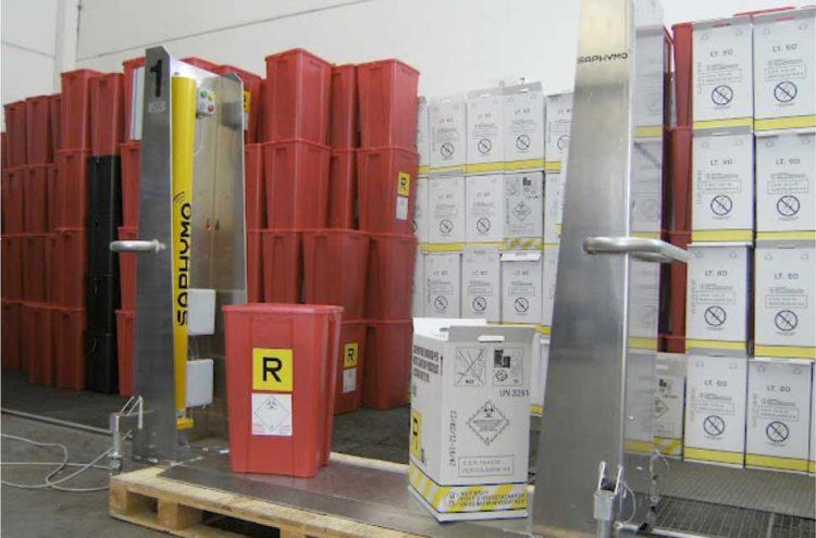 Contrôle radiologique de chargements des conteneurs : détection de la contamination des déchets d'activité des soins de santé