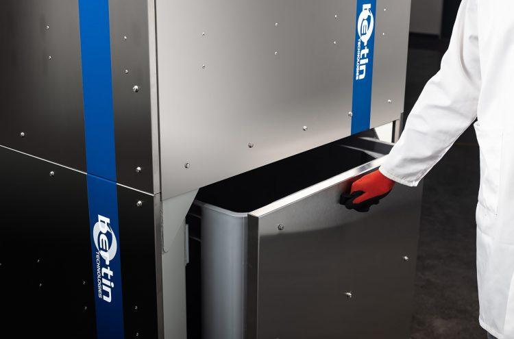 Sterilwave 440, bac de récupération des déchets inertes