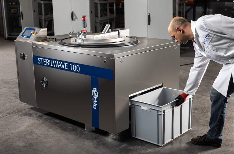 Sterilwave 100, broyage de déchets médicaux à l'aide de lames rotatives