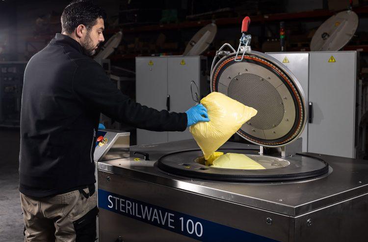 Sterilwave 100, inactivation microbienne par traitement micro-ondes