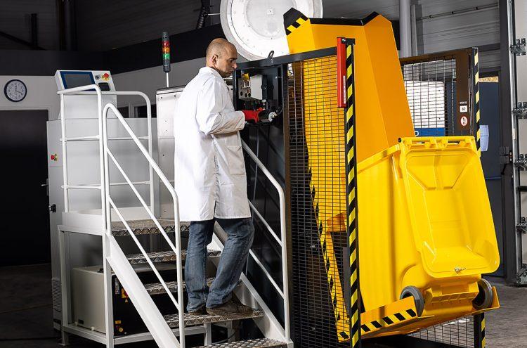 Système de chargement automatique des déchets pour Sterilwave 440